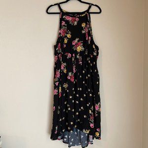 Torrid floral print halter dress